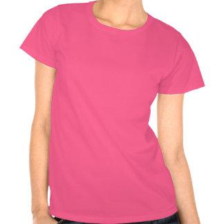Camiseta para mujer del Grunge rosado del dragón d