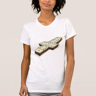 Camiseta para mujer del juego de los dominós