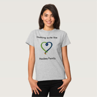 Camiseta para mujer del lema del hockey