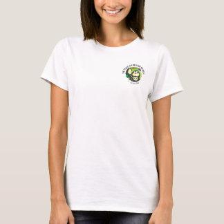 Camiseta para mujer del logotipo del bolsillo