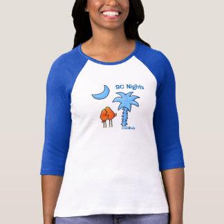Camiseta para mujer del raglán de la manga de
