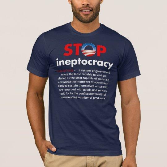 Camiseta Pare a Ineptocracy de Obama