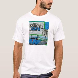 Camiseta Pared de la esquina del café de la ruta 66