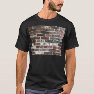 Camiseta Pared de ladrillo del multicolor con rojos,