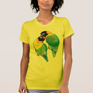Camiseta pares de lovebirds enmascarados