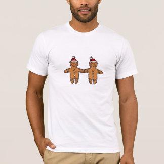 Camiseta pares gay del pan de jengibre