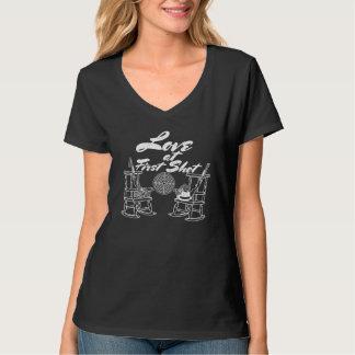 Camiseta Pares rústicos de la caza del banquete de boda del