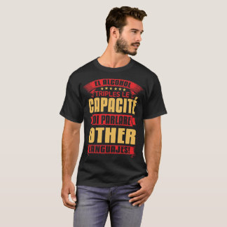 Camiseta Parlare de los di del EL alcohol triples le