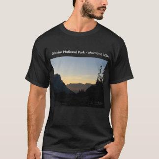 Camiseta Parque Nacional Glacier - salida del sol de la
