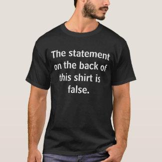 Camiseta Parte posterior: La declaración sobre el frente de