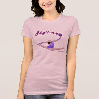 Camiseta partida del salto de la bola de la