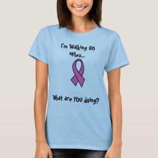 Camiseta Paseo del cáncer de pecho