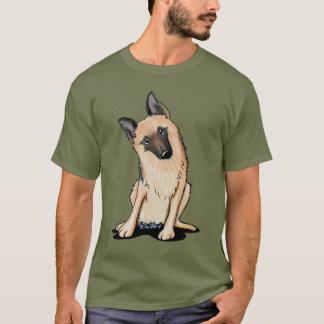 Camiseta Pastor alemán curioso