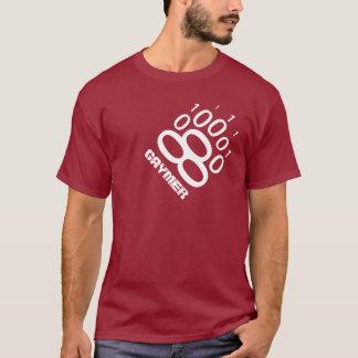 Camiseta Pata de oso binaria de Gaymer (blanca)