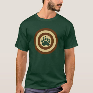 Camiseta Pata de oso del escudo del superhéroe del orgullo