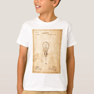 Camiseta Patente del bulbo de Edison