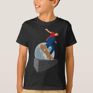 Camiseta patinador pixelated de la luna