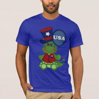 Camiseta patriótica de julio del cuarto del dragón