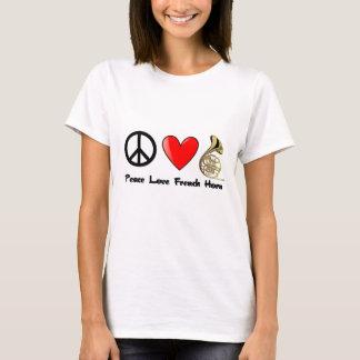 Camiseta Paz, amor, trompa