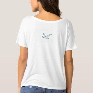 Camiseta Paz en paloma colorida de la paz de la acuarela el