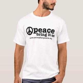Camiseta Paz--Tráigala encendido