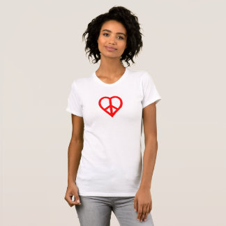 Camiseta paz y amor