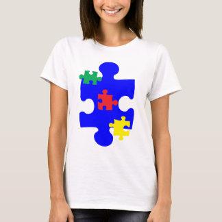 Camiseta Pedazo Awarness del rompecabezas del autismo