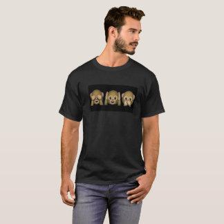 Camiseta Peekaboo del mono de Emoji
