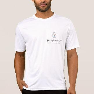 Camiseta pegajosa de la contraseña con el lugar pe