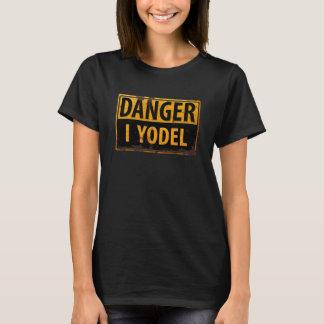 Camiseta PELIGRO, YODEL señal de peligro amonestadora
