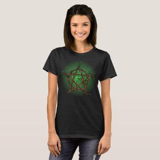 Camiseta Pentáculo del árbol en verde