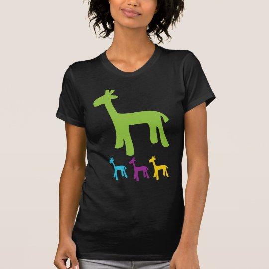 Camiseta Pequeñas jirafas retras