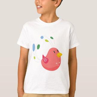 Camiseta pequeño vuelo lindo del pájaro y canto