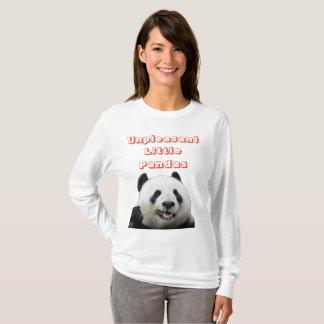 Camiseta pequeños panda desagradables