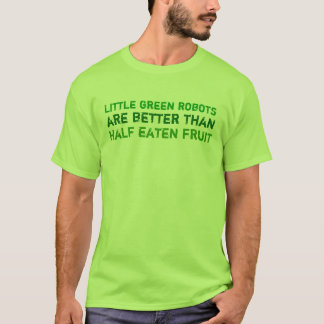 Camiseta Pequeños robots verdes