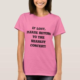 Camiseta perdida del concierto