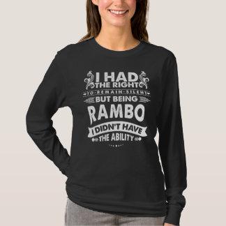Camiseta Pero siendo RAMBO no tenía capacidad