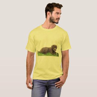 Camiseta Perrito del laboratorio del chocolate con actitud