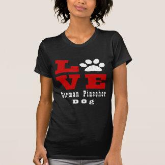 Camiseta Perro alemán Designes del Pinscher del amor