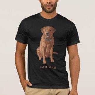 Camiseta Perro amarillo rojo del labrador retriever del Fox