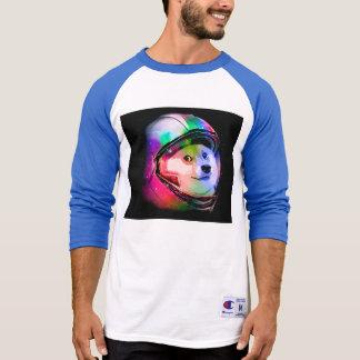 Camiseta Perro astronauta-colorido del dux - perro del