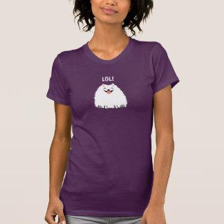 Camiseta Perro blanco divertido LOL del dibujo animado de