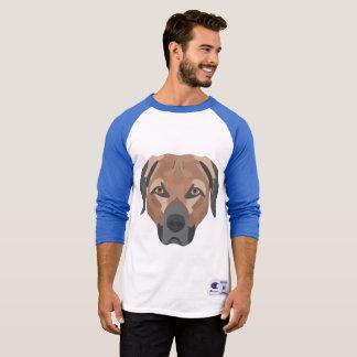Camiseta Perro Brown Labrador del ilustracion