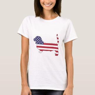 """Camiseta Perro de afloramiento """"bandera americana """""""