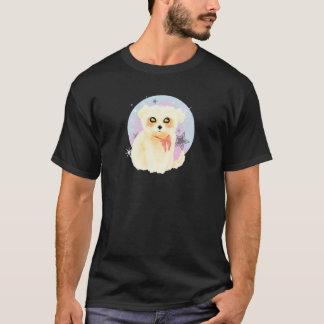 Camiseta Perro de perrito maltés de Kawaii