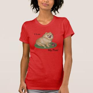 Camiseta Perro de Pomeranian con personalizable de la bola