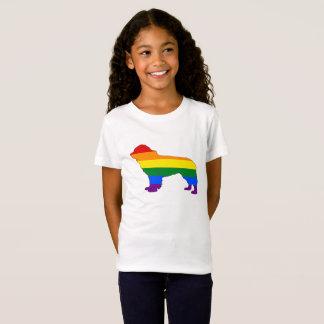 Camiseta Perro de Terranova del arco iris