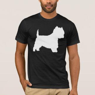 Camiseta Perro de Westie (blanco)