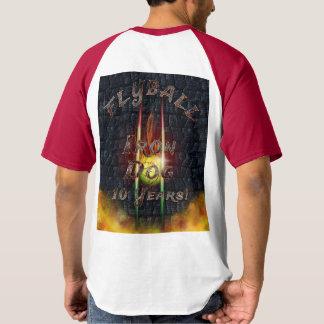 Camiseta ¡Perro del hierro de Flamz Flyball - 10 años de