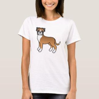 Camiseta Perro lindo del boxeador del cervatillo del dibujo